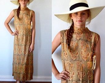 Vintage 1960s Casual Dress, 1960s Dress, Sleeveless Dress, Casual Dress, Vintage Cotton Dress, Country Chic