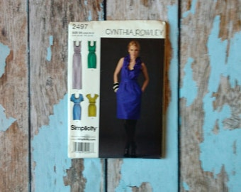 Simplicity Sewing Pattern - Simplicity 2497 - S2497 - Cynthia Rowley Dress - Cocktail Dress - Scoop Neck Dress - Dress in 3 Lengths - Medium