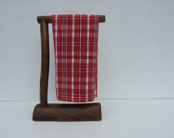 Countertop Log Hand Towel Holder (Espresso Stain)