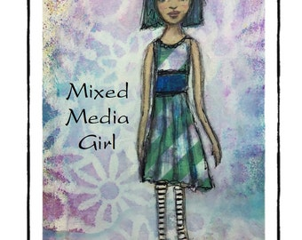 Mixed Media Girl Video Painting Tutorial