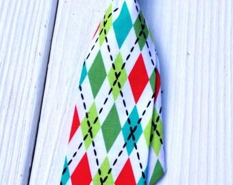 Holiday Argyle Neck Tie