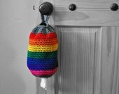 Rainbow Plastic Grocery Bag Holder Kitchen Organizer Modern Home Decor Spare Bag Dispenser Gay Pride