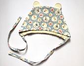 SALE! Baby Bonnet 6 months - Owlette Bear Bonnet