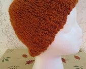 Cozy Comfort Women's Beanie in Saffron (Burnt Orange)