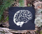 Brains Patch - punk patch, science, geekery, anatomy, brain, nerd, punk patches, zombie, apocalypse, intelligent, goth, smarts, geek, smart