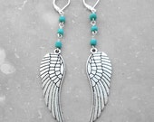 BIG and BOLD Silver Feather EARRINGS, Feather Jewelry, Boho, Under 25, Large Earrings, Unique Gift, All Colors, Animal Rescue, Good Causes