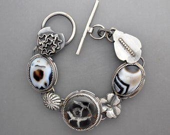 Geode and Onyx Bracelet