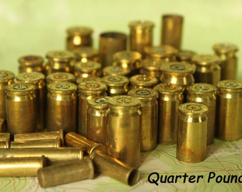 1/4 Pound Brass bullet shell casings - Sampler mix - Spent Ammo from Colorado for recycled Jewelry Supplies - 4oz-BR-Mx
