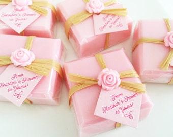 Soap Favors, Bridal Shower Favors, Baby Shower Soap Favors, Wedding Soap Favors, Bridal Shower Soap Favors, Pink Favors