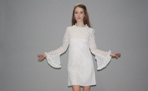Vintage Wedding Dress Ca : S vintage boho angel sleeve ivory lace wedding dress