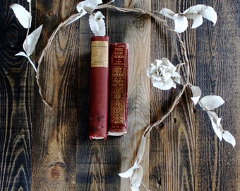 Wild Rose Book Paper Garland Door Swag
