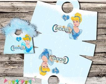 Cinderella Treat / Gift Purse - Birthday Party or Wedding Treat Box - Printable - DIY - Digital File - INSTANT DOWNLOAD!