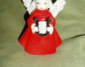Vintage 60s Girl Angel Old Japan Ceramic Holiday Retro Decoration