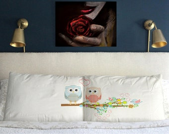 OWL LOVE Pillow  Cases  Wedding Perfect  Gift Couple