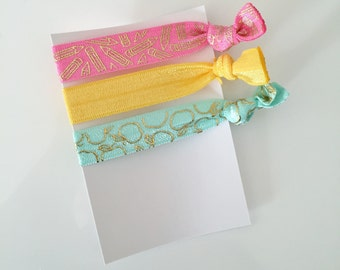 no crease elastic tie hairbands -- teachers pet in marine parents inspired colors