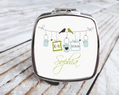 Bridesmaids Gift Personalized Compact Mirror - Bliss Mason Jar Line