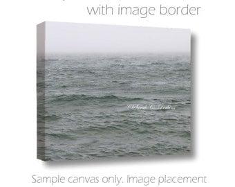 "Moody Fine Art Photography Gallery Wrap Canvas ""Brewing Storm"" Gray Lake/Sky/Waves Original Coastal/Nautical Home Wall Decor Great Lake"