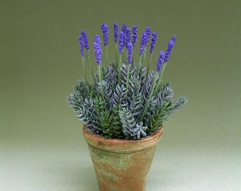 1/12th Scale Lavender Flower Kit for Dollhouses, Florists and Miniature Gardens