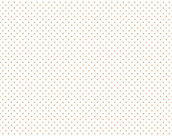 Orange Polka Dot Fabric - Riley Blake Swiss Dot - Orange Dot Fabric By The 1/2 Yard