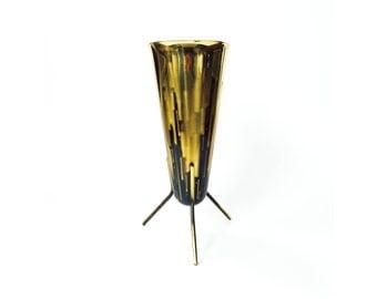 Vintage Brass Tripod Planter / Vase