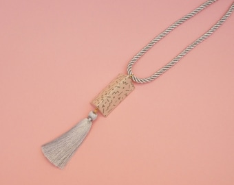 "Architectural Necklace // Tassel necklace // Geometric Necklace // Pastel necklace // Memphis Inspired Necklace // The ""Ettore"""