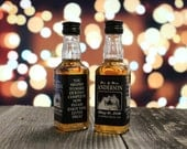 Custom Jack Daniels Mini Bottle Labels Wedding Favors Thank You Rehearsal Dinner Reception Photo Whiskey Bridal Party Groomsmen Gift EB-1015