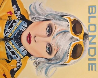 """Debbie - Original Oil Painting of Debbie Harry from Blondie on stretched canvas 18""""x24"""""""