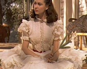 Gone With The Wind Scarlett O'Hara Vivien Leigh Rare Hollywood 1989 Flounced White Dress Unused FF Bust 36 Women's Vintage Sewing Pattern