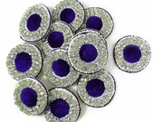 Purple Beaded Applique Craft Patch Supplies Designer Sewing Applique Decorative Dress Decor Indian Sewing Beaded Appliques By 2 Pcs RAP355D