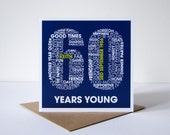60th Birthday Personalised Card - Personalized 60th Birthday Card - Birthday Card for Him - Birthday Card for Her - Sixtieth Birthday cards