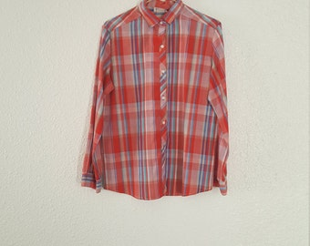 Womens Red Plaid Stevens Creek Shirt