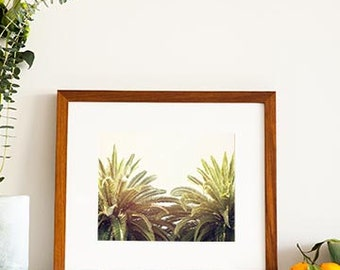 Framed Wall Art, Palm Tree Decor, Wooden Frame, Framed Art, Photography, California, Ready To Hang, Beach House, Coastal Decor
