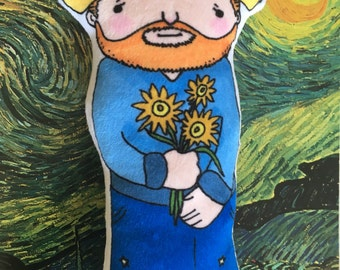 Little Vincent VanGogh: soft doll