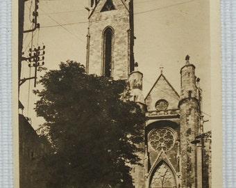Unused French Vintage Postcard - St. Jean de Malte Church, Aix en Provence, France