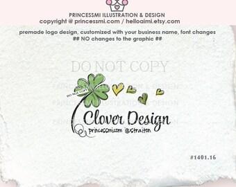 1401-16 Clover logo design photography logo business logo design Watermark Design by princessmi