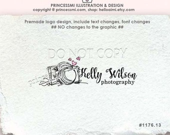 1176-13 photography logo, Premade Logo Design - doodle camera logo photography logo watermark photographer watermark