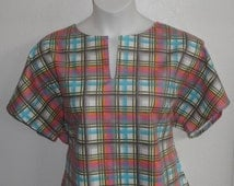 XS - 3X - Post Surgery FLANNEL Shirt - Shoulder. Breast Cancer, Heart / Adaptive Clothing /  Hospice /  Breastfeeding - Style Gracie