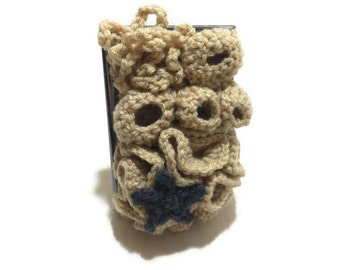 Framed Coral Reef, Ocean Fiber Art, Nautical Art, Crochet Fiber Art, Ocean Art, Starfish Art, Beach Decor, Framed Fiber Art, Coral Reef