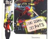 PARIS Saint Germain Vintage post card from 1950 - Circulated unique postcard from Saint Germain des Prés