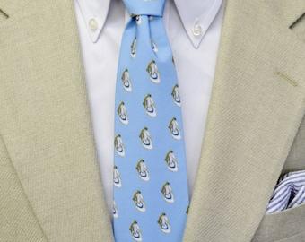 Oyster Shell Mens Tie, Blue Tie, Coastal Tie, Southern Tie, Preppy Tie, Beach Wedding, Handmade Tie, Unique Tie, Necktie, Red and Blue
