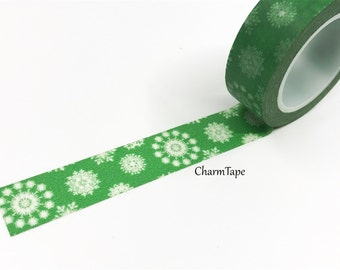 SALE Christmas snowflake pattern Washi tape 15mm x 10m WT454