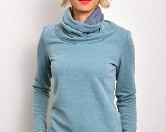 sweatshirt turquoise flecked by STADTKIND