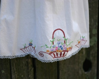 Pillowcase Dress from Vintage Embroidered Pillowcase size 2/3