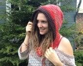 SALE, Crochet Hood Unisex, Pixie Festival Hood, Dread Hood