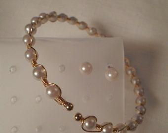 SALE / FREE EARRINGS / Bangle Bracelet / Pierced Posts Studs / Wedding / Prom / Classic / Retro / Fashionista / Rockabilly / Hip / Accessory