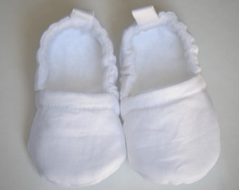 baby boy linen christening shoes, linen baptism shoes, linen baby blessing shoes
