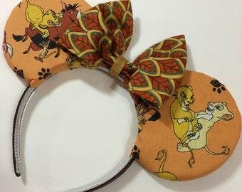 Lion King Mouse Ears with Bow - Mad Ears