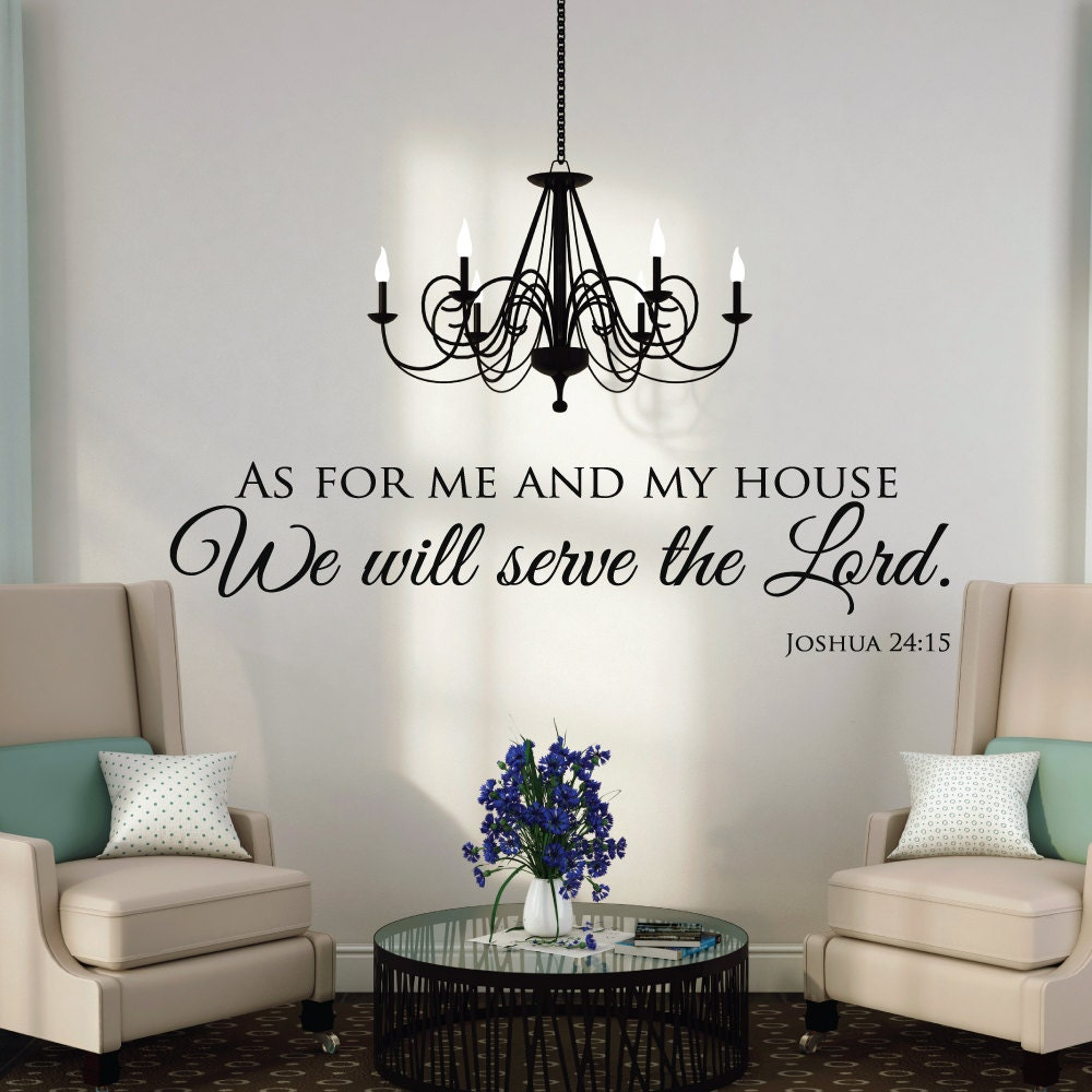 as for me and my house wall decals quotes christian wall. Black Bedroom Furniture Sets. Home Design Ideas