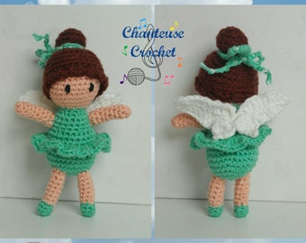 CUSTOM Amigurumi Baby Doll Hand Crocheted Fairy Girl