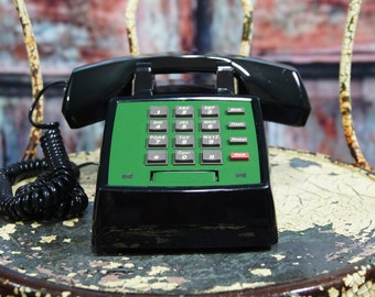 upcycled Vintage Office Phone push button telephone